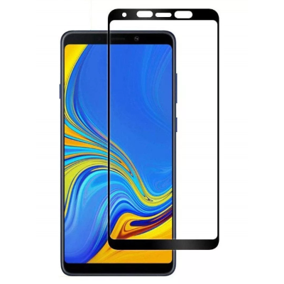 Стекло Samsung A9 2018 Full Glue 2.5D Black/White/Gold