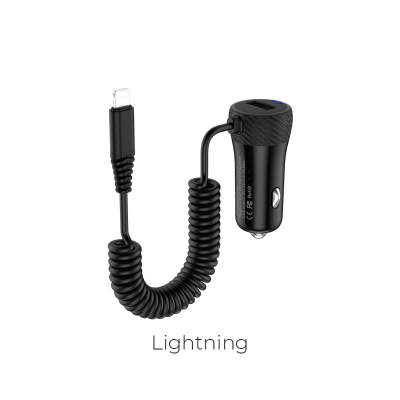 АЗУ + Lightning HOCO Z21A Ascender single-port black