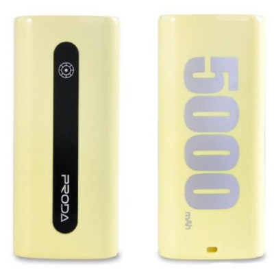 Внешний АКБ Remax Proda E5 5000 mAh PPL-15 (Yellow)