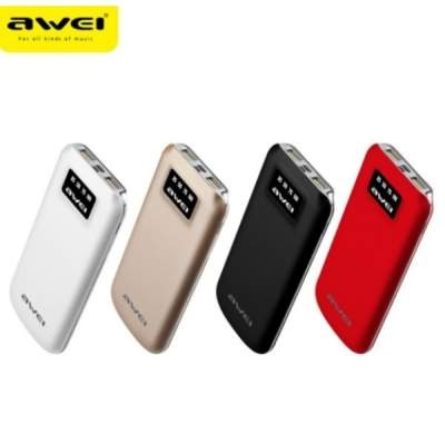 Внешний АКБ 10000 mAh Awei P50k (Black) Original