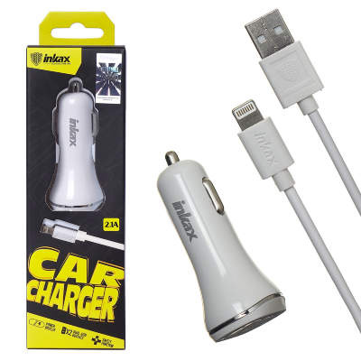 АЗУ + кабель Lightning inkax CD-13 5V/1A 2USB (white)