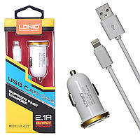 АЗУ + кабель Lightning LDNIO DL-C22 2.1A 2USB ports (black)