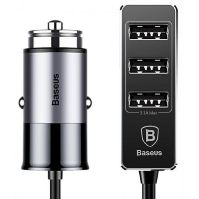 АЗУ Baseus Enjoy Together Four Interfaces Output Patulous Car Charger 5.5A CCTON-0G (Dark gray)