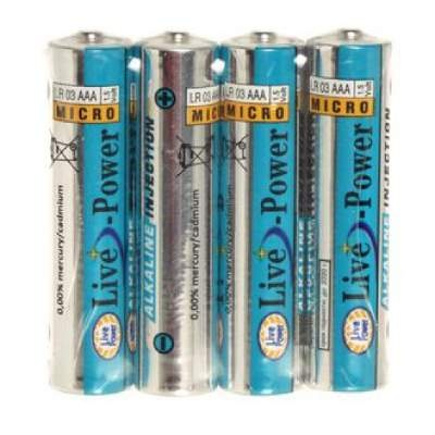 Батарейки Live-Power ALKALINE AAA 4pcs/shrink