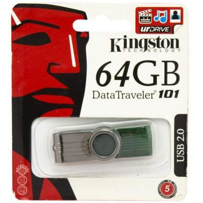Флешка USB KINGSTON Data Traveler 101 64гб
