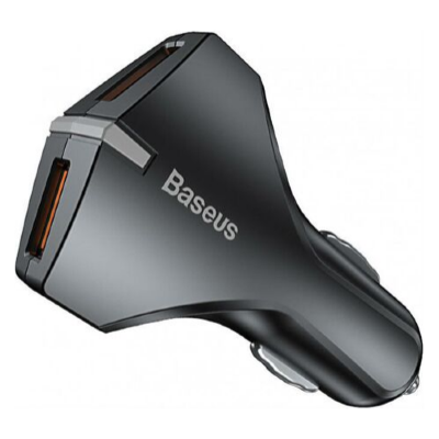 АЗУ Baseus Small Rocket QC3.0 Dual-USB Car Charger CCALL-RK01 (Black)