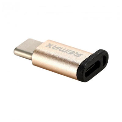 Переходник Remax Micro-Type-C Remax RA-USB1 (Gold)