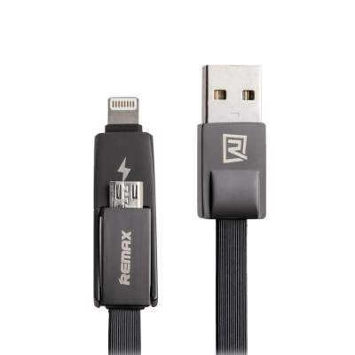 Кабель 2в1 Micro/Lightning Remax Strive RC-042t (black)