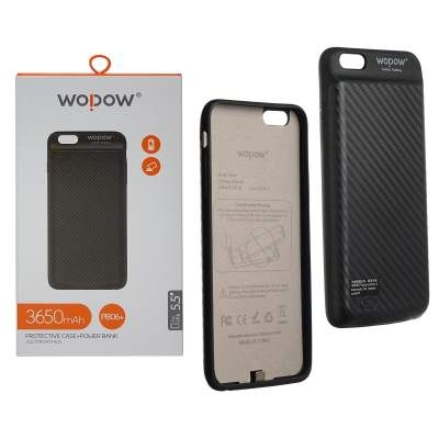 Чехол-Аккумулятор 3650 mAh Wopow PB06+ ip6 Plus Jacket battery