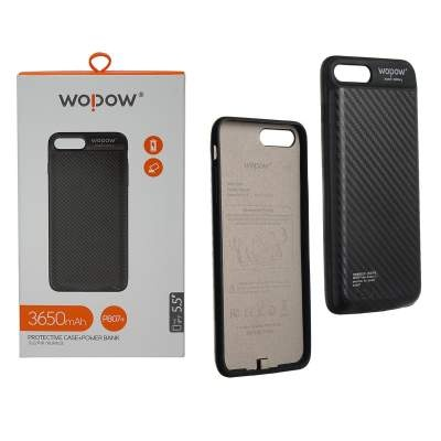 Чехол-Аккумулятор 3650 mAh Wopow PB07+ ip7 Plus Jacket battery