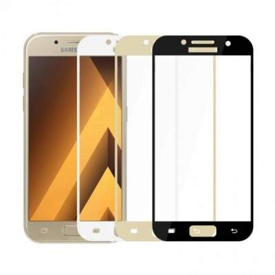 Стекло Samsung A320 (A3 2017) Full Glue 2.5D Black/White/Gold