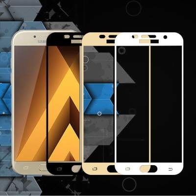 Стекло Samsung A520 (A5 2017) Full Glue 2.5D Black/White/Gold
