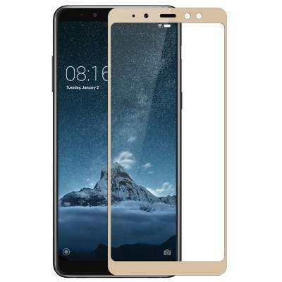 Стекло Samsung A8 2018 Full Glue 2.5D Black/White/Gold